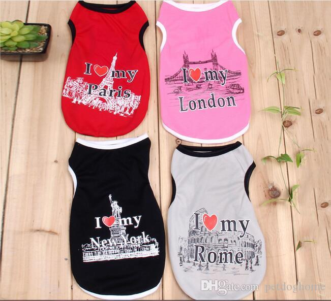 Spring Summer Dog Clothes Cotton Cute Cats Puppy Dog Vest Shirt Clothes for Teddy Poodle Small Dogs Pet Apparel