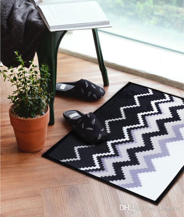 60 * 40 cm Hello Doormats - Alfombras de la puerta delantera - Alfombras de la entrada de la puerta Alfombrillas para los pies de la alfombra de Hello / Welcome Home - Diseño simple