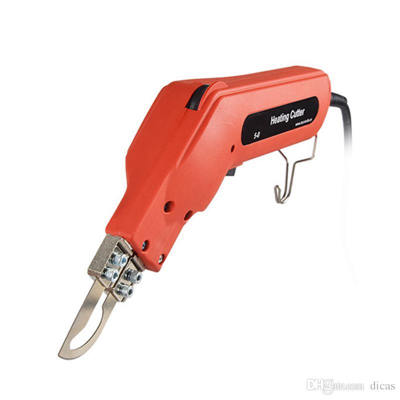 Envío gratis cortador eléctrico caliente cinta de tela de fusión en caliente corte demasiado caliente cuchillo cortina tela dacron tijeras ajuste de temperatura 6 nivel