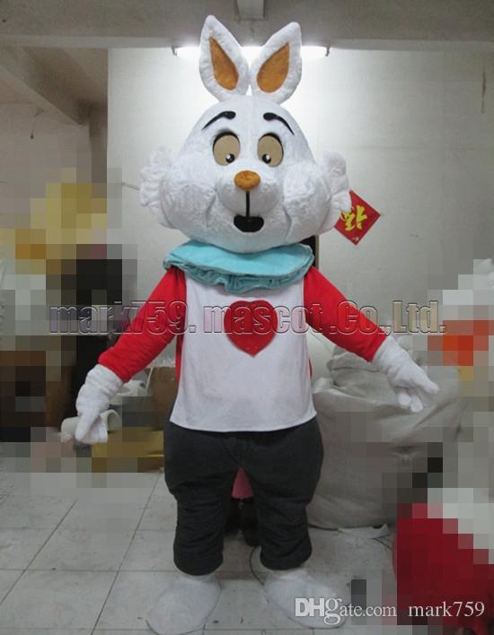 Liebes-Kaninchen-Maskottchenkostüm Freies Verschiffen-erwachsene Größe, Häschenmaskottchen-Luxusplüschspielzeug-Karnevalspartei feiert Maskottchenfabrikverkäufe.