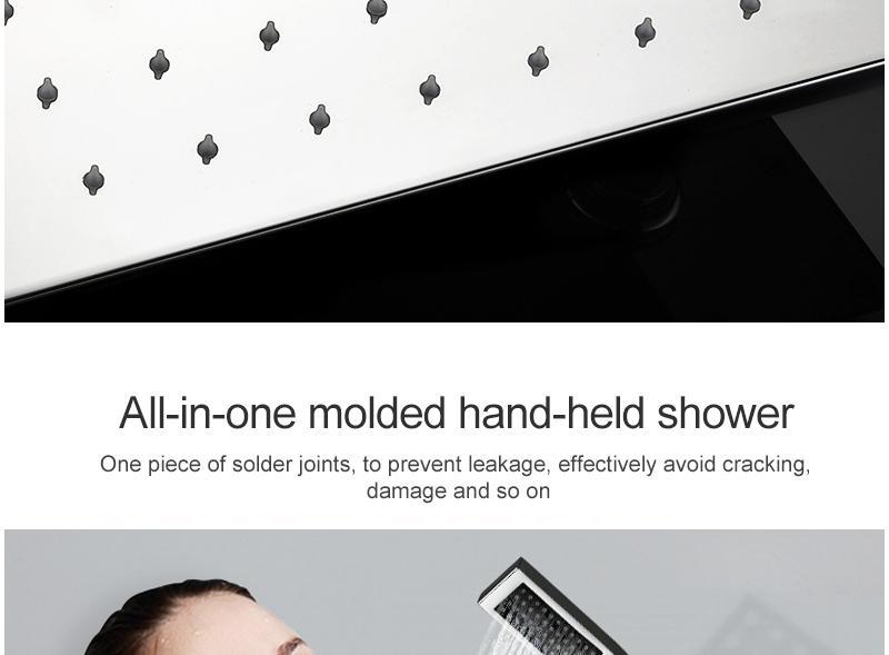 hm LED Ceiling Shower Set 20 Inch constant temperature Change Mist Rain Bathroom Shower Head Multiple Functions Shower Diverter (20)