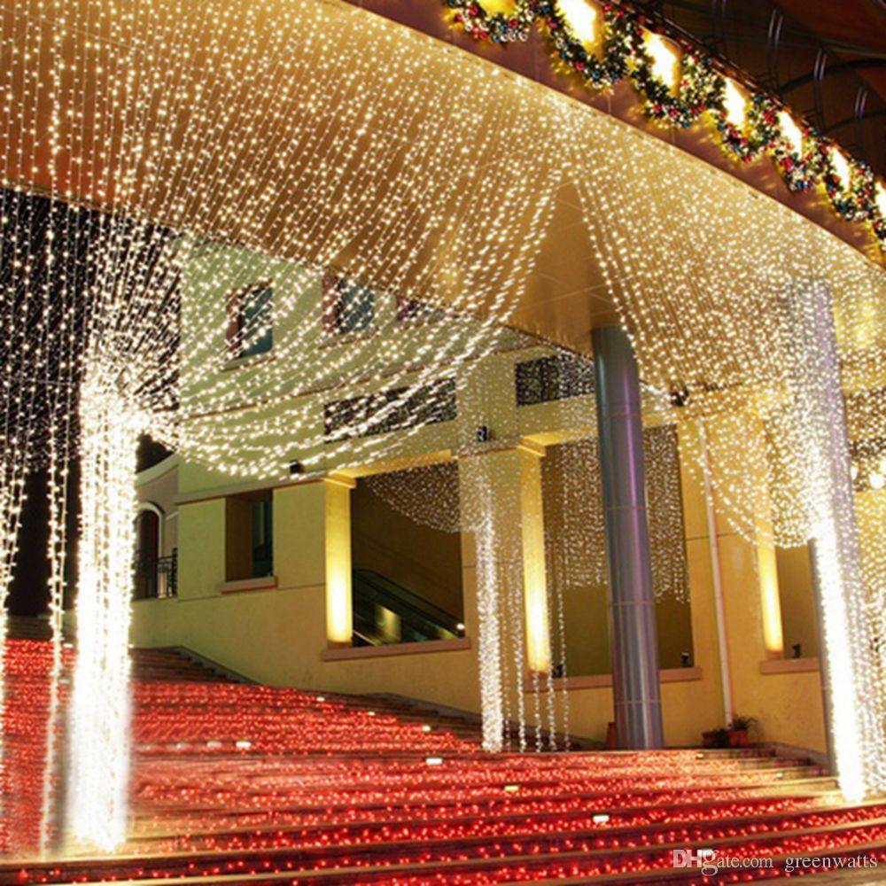 Atacado Luzes Cortina EU / AU / EUA Romântico LED Cortin String Light for Holiday Party Garland Party Janela Decoração Navio por DHL