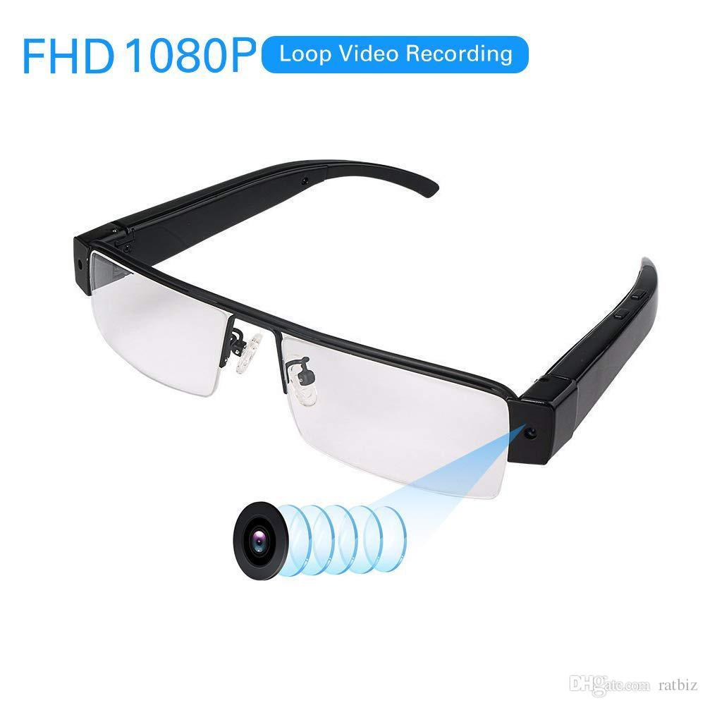 ذاكرة 8GB المدمج في 1920 * 1080P HD الثقب أنيق زجاج البسيطة كامل كاميرا HD 1080P الرقمية نظارات كاميرا زجاج كاميرا DV الفيديو PQ161