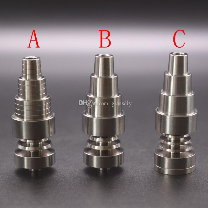 Chiodo in titanio 10mm14mm19mm Giunto 2 IN 1 4 IN 1 6 IN 1 Chiodo per titanio Domeless per maschio e femmina DHL
