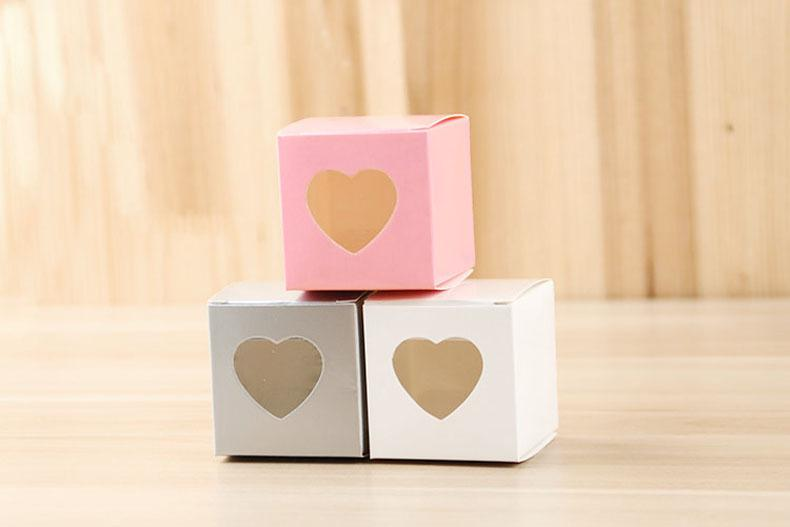 Love Heart Wedding Supplies Candy Boxes Favor Holders Baby Shower Gift Box Chocolate Cake Boxes Bag