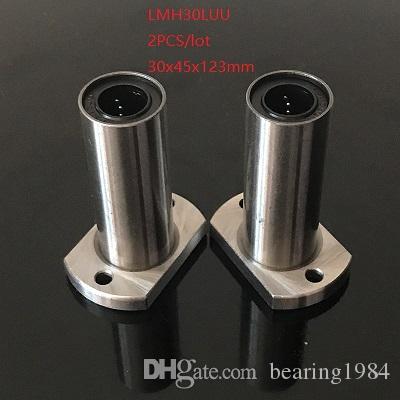 2pcs / lot LMH30LUU 30mm roulement à billes linéaire long ovale à bride roulements mouvement linéaire roulements 3d imprimante pièces cnc routeur 30x45x123mm