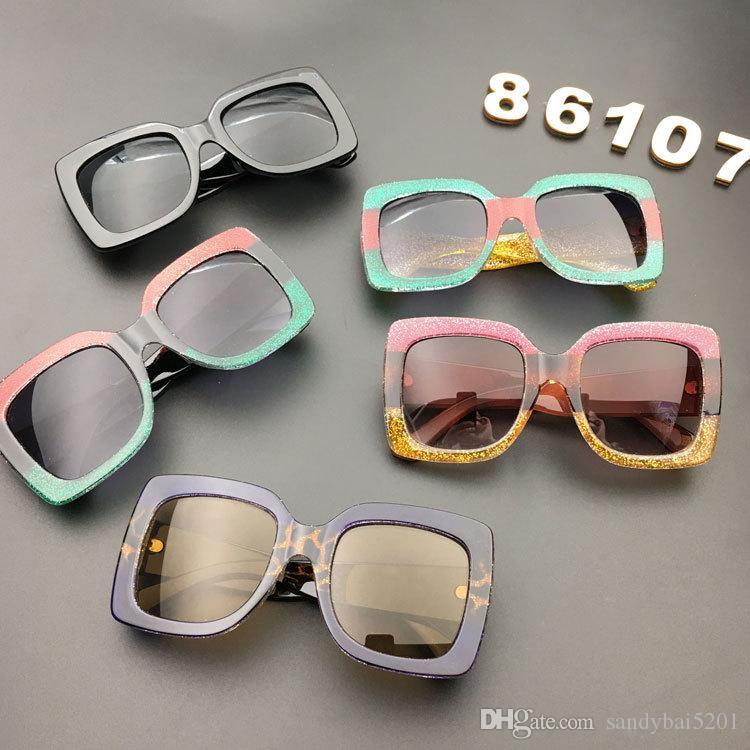Niños bloqueador solar para bebés, niños, niñas, gafas de sol, gafas de sol cuadradas de la vendimia, gafas de sol, gafas de sol, gafas de sol, luneta, de 5 colores D823