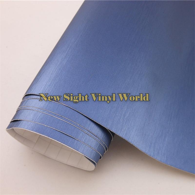 Película cepillada azul de alta calidad de la carrocería del abrigo del vinilo para el coche que envuelve la burbuja de aire Tamaño libre: 1.52 * 30M / Roll