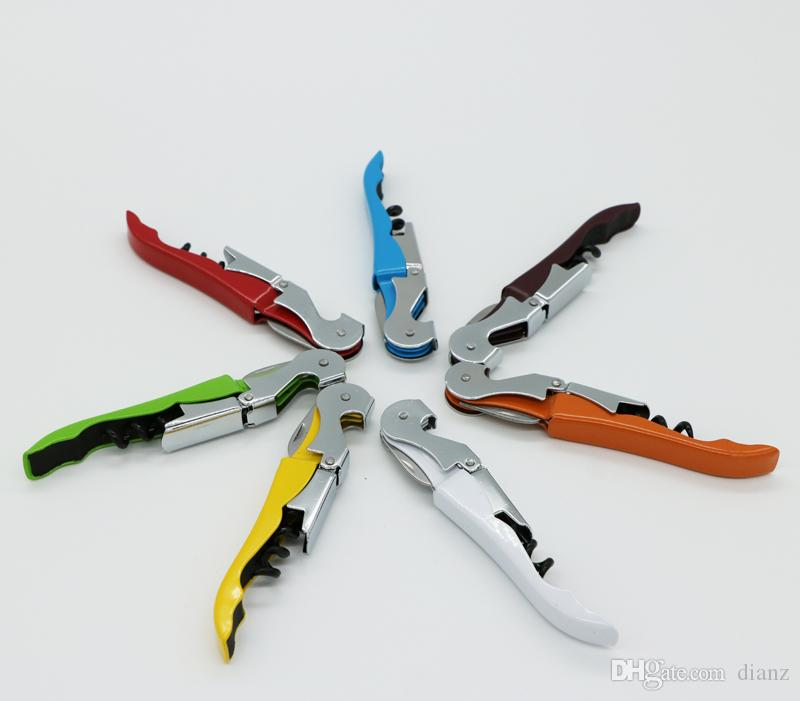 Förderung kann Ihr Logo drucken Metall Seepferdchen Korkenzieher Korkenzieher Multifunktions Pocket Bar Tool Rotwein Flaschenöffner