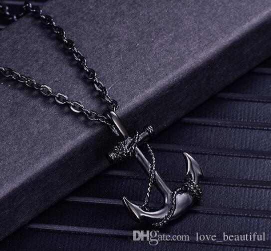 free shipping Vintage stainless steel boat cat pendant necklaces navy style personality hip hop pendant fashion hits