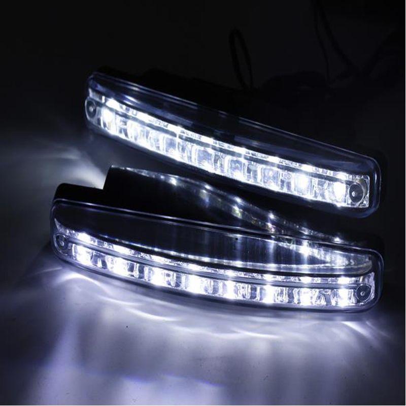 2 шт./лот стайлинга автомобилей автомобилей 8 LED дневной ходовой огонь автомобилей DRL туман вождения дневного света Светодиодные лампы для автоматической навигации огни