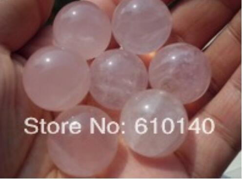 7pc Natural Rose Quartz Crystal Sphere Ball Love Healing From China