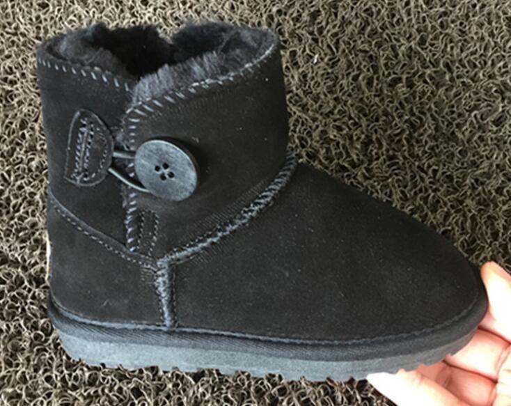 جديد الأطفال الأحذية أستراليا للماء الفتيات بنين الثلوج أحذية الثلوج الطفل الشتاء التمهيد الفراء الدافئ أحذية للأطفال حجم 24-34