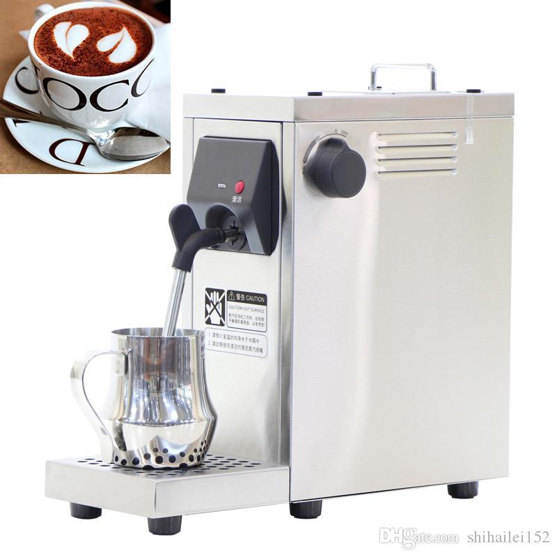 Frete grátis Welhome borbulhador de leite profissional de aço inoxidável comercial / leite steamer / máquina de formação de espuma de leite para o cappuccino e latte 22