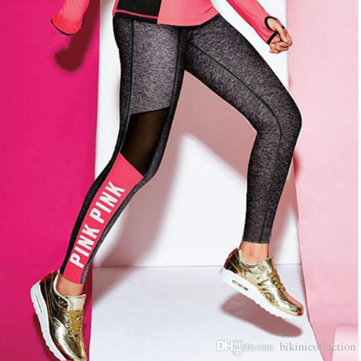 편지에 여성 팬츠 스포츠 레깅스를 통기성 피트니스 레깅스 운동은 바지를 위해 체육관을 실행하는 옷을 플러스 사이즈 빠른 건조 바지 Victor