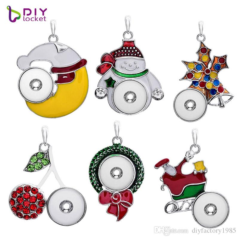 Christmas Snap Jewelry Pendants For Women LSNP47/52/53/54/55/56