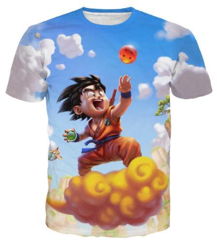 Nova Chegada Dos Homens / Mulheres Dragon Ball Goku 3D Impresso T-shirt Summe Estilo Moda de Alta Qualidade Casual T-shirt S-XXXXXXXL U641