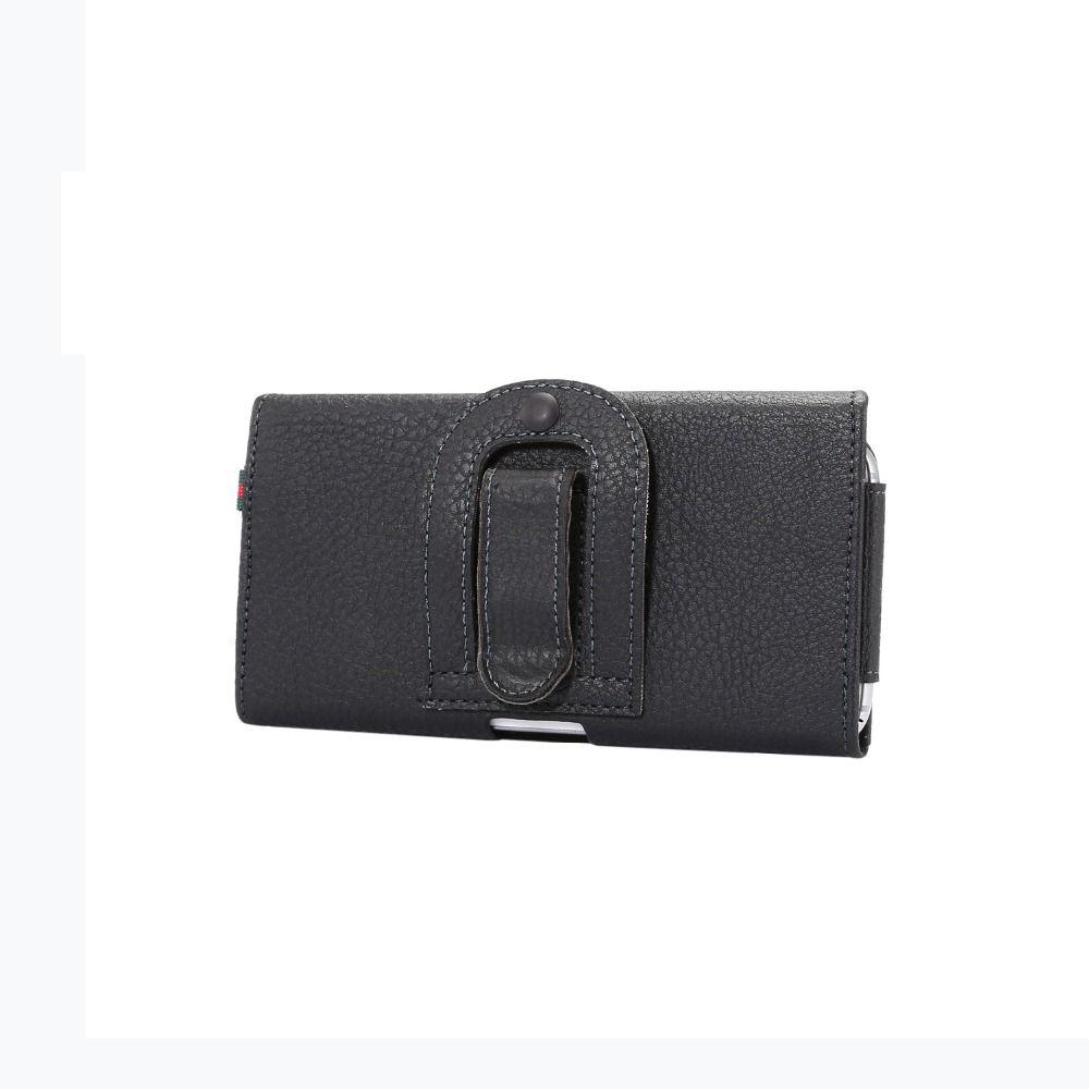 도매 ZTE 그랜드 X4 / 워프 7 / Blade V 플러스 / Axon 가로 허리 홀스터 가방 카드 슬롯 자석 주머니 Litchi 패턴 커버