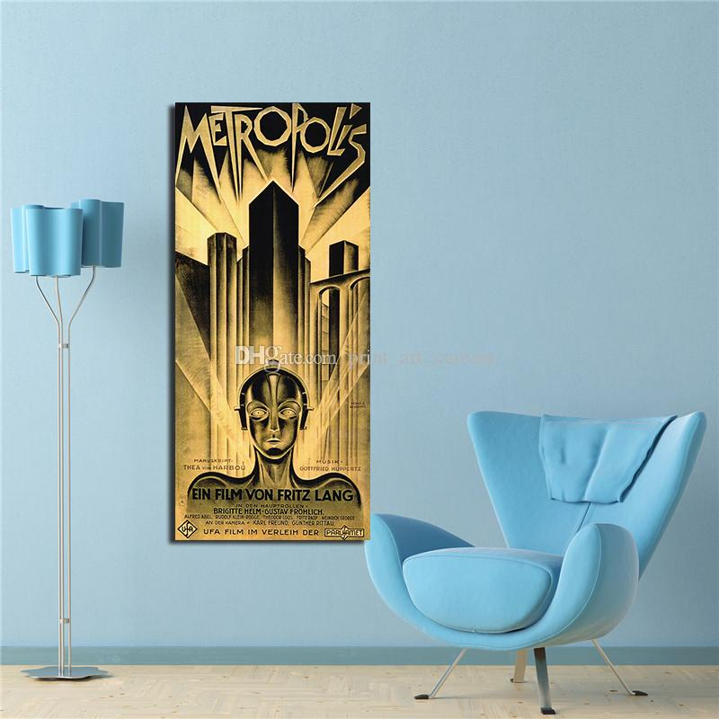 Metropolis German Vintage Film Art Poster HD Print Home Wall Decor Multi Sizes