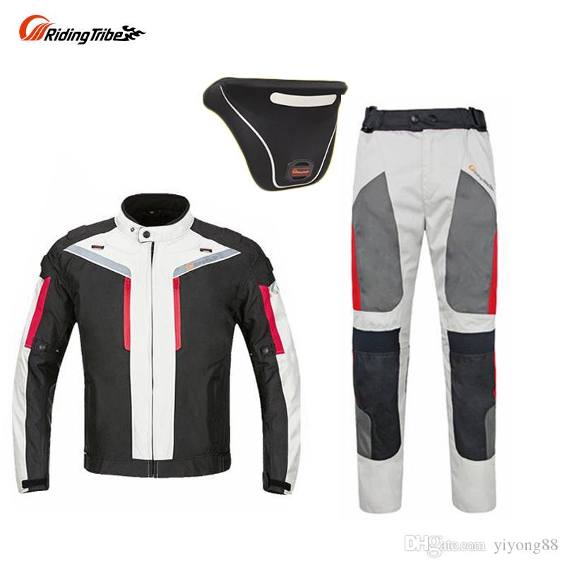Riding Tribe Motorcycle Waterproof Jackets Suits Trousers Jacket for All Season,Black Reflect Racing Winter clothing and Pants