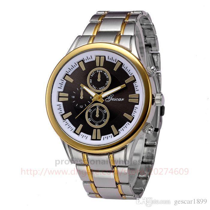 Gescar Men Dial High Maschio Luxury Watch In Acciaio Inox Design Quality Uomo per orologio da polso Digital Oiveu