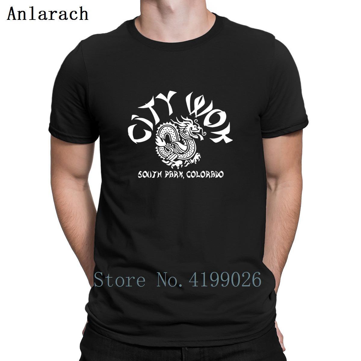 Şehir Wok Güney Colorado Parkı Tişörtleri Ince Oluşturmak Giyim Mektuplar erkek Tshirt Yaz Tarzı O-Boyun Son Anlarach Hip Hop