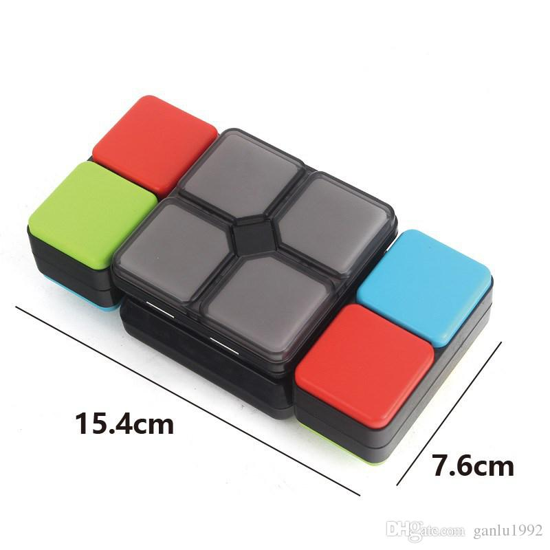 Magic Cube Electronics With Light Music Puzzle Flip Foldable Led Cubes Multiplayer Brain Training Decompression Toys Free Shipping 38dq Z