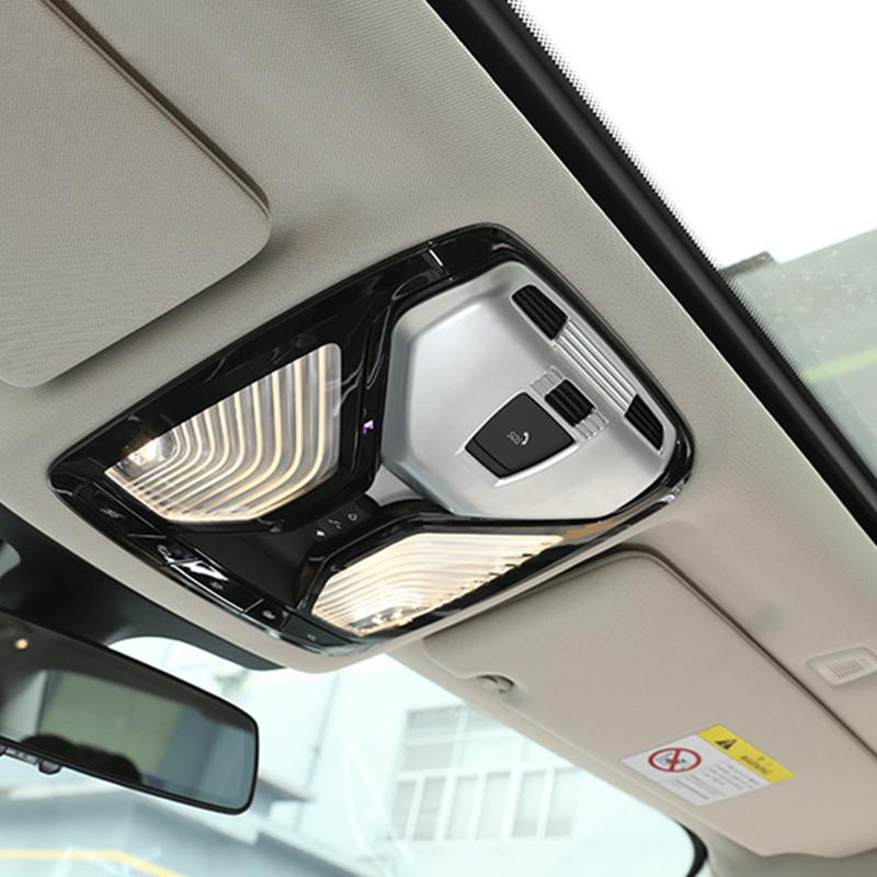 Chrome Front Roof Reading Lamp Frame Cover Decor Trim For BMW 5 Series G30 2018