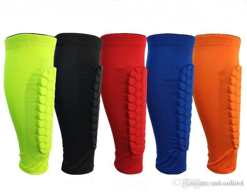 Petek Buzağı Spor Koruma Bacak Kol M-XL Spor Bacak Koruma 5 Renk Basketbol Futbol Shin Pedleri Anti-Crash Bacak Desteği