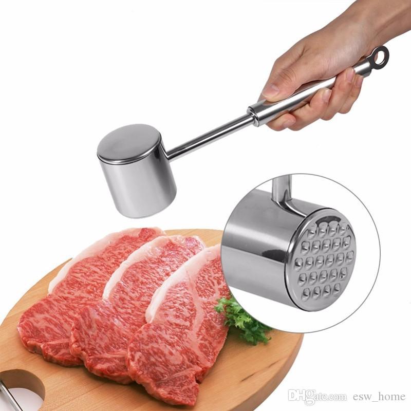 스테인레스 스틸 쇠고기 돼지 고기 닭고기 포배기 고기 망치 말렛 Tenderizer 육류 가금류 도구 주방 도구 1pcs
