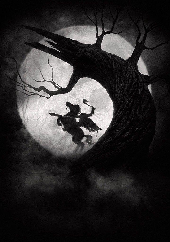 SLEEPY HOLLOW Movie PHOTO Film Art Johnny Depp Tim Burton Art Sil Poster 20x30 24x36 24x43
