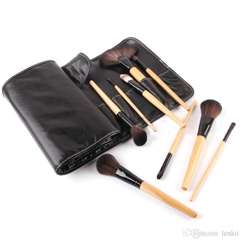 New Coming 32 Pc / Kit Set pennelli per trucco professionale Pennelli per fondotinta in polvere Pennelli per trucco in legno