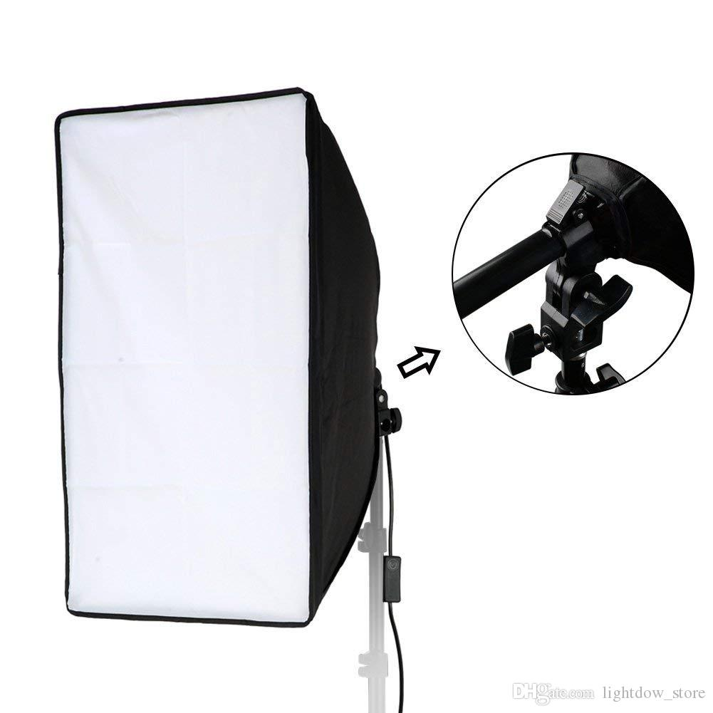 Lightdow 20x28inch(50x70cm) Studio Softbox Photo Video Studio Light Lamp Bulb Tube Softbox Soft box For Canon Nikon Sony ALL SLR Cameras