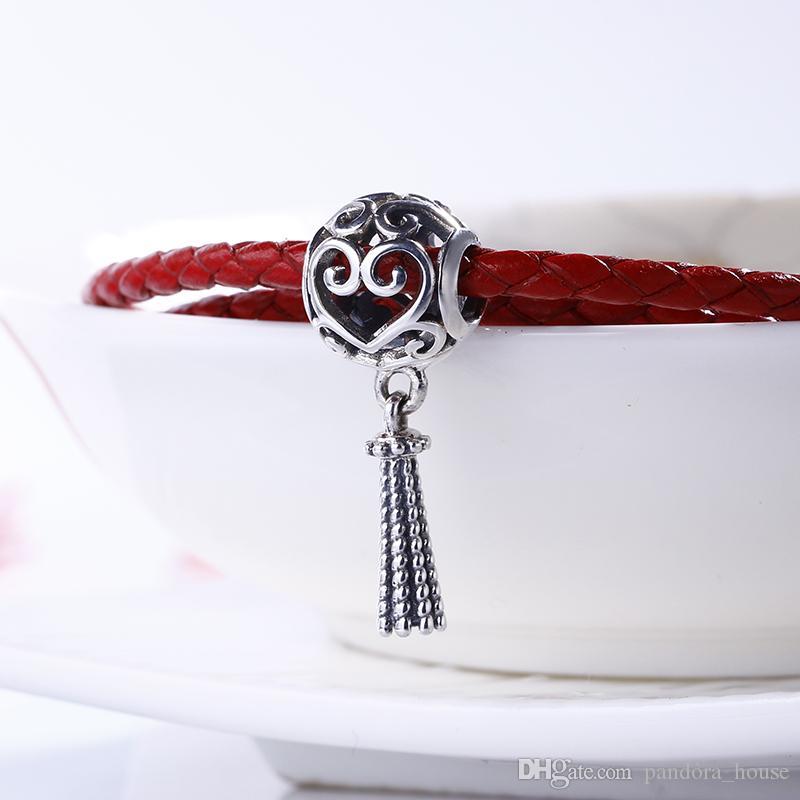 2018 printemps authentique réel 925 argent sterling non plaqué coeur enchanté breloques charmes de perles européennes Fit Pandora Bracelet Bracelet DIY Bijoux