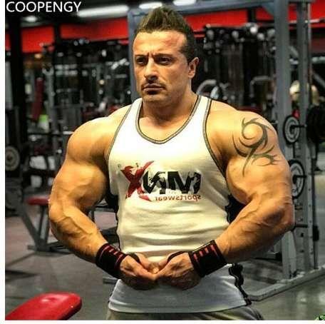 Men/'s Muslce Vest Tank Tops Bodybuilding Fitness O-Neck Gasp Sleeveless Shirt