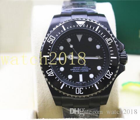 Luksusowy zegarek Nowy stal nierdzewna Ceramiczna czarna tarcza 116610LN 44mm Automatyczne Mechaniczne Mężczyźni Zegarki Luminous