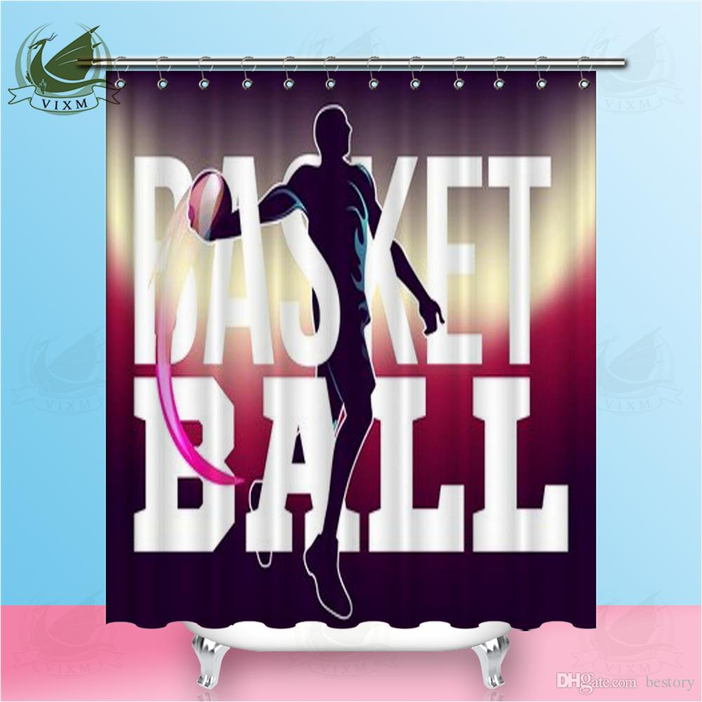 Vixm Basketball Game Modern Sports Poster Shower Curtains Polyester Fabric Curtains For Home Decor