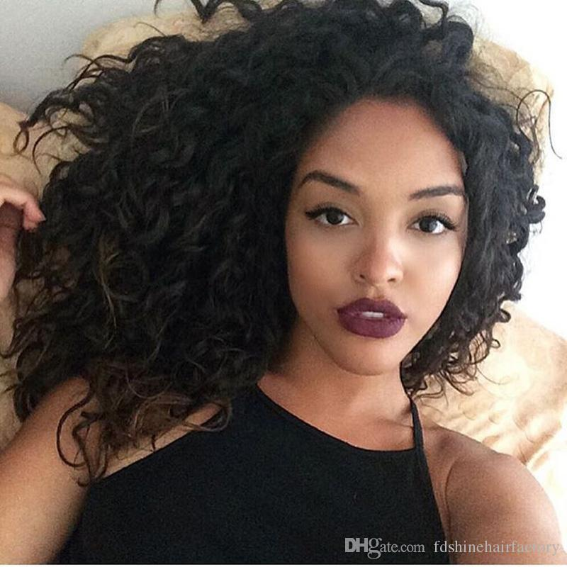 Deep Wave 100% Real Human Hair Virgin Natural Hair Lace Front Wigs Full Lace Wigs FDSHINE