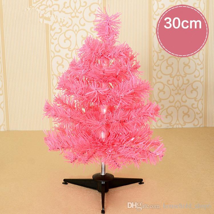 30 см Мини ПВХ Рождественская елка розовый синий фиолетовый золотой цвет имитация Рождественская елка 38 филиалов поддельные пластиковые украшенные Christimas дерево