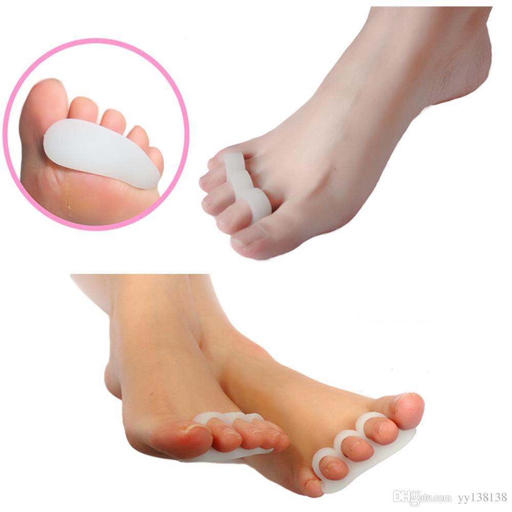 Separadores de dedos Hallux Valgus Dedos superpuestos Separación de dedos Rehabilitación Ortesis correctiva Herramienta Tirantes Cuidado de los pies