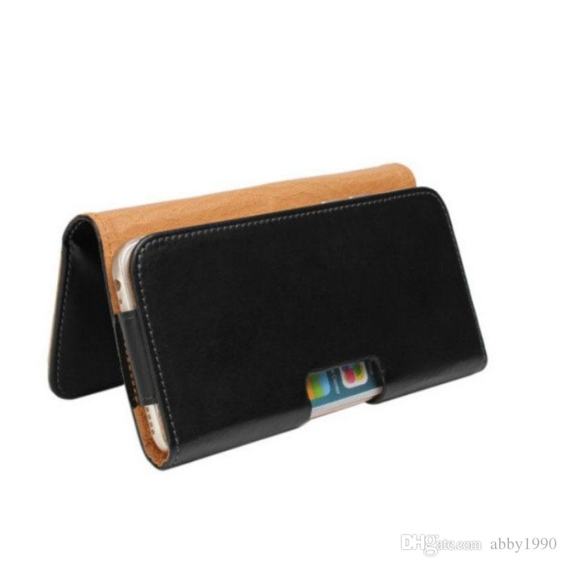 Universal Belt Clip PU Leather Waist Holder Flip Pouch Case for Logicom Le Starter L/VR bot 552/VR bot 552+