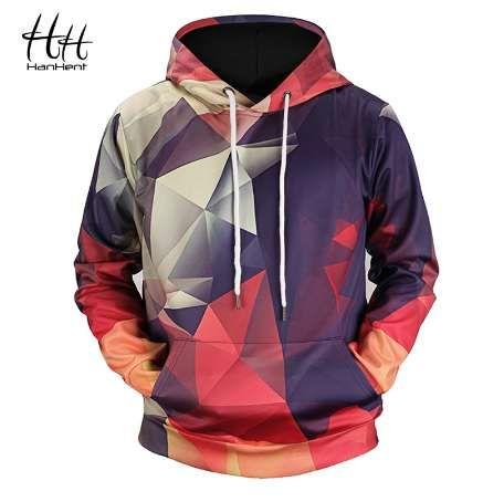 HanHent Yeni Geometrik Hoodies 3d Adam Streetwear Moda Hoody erkek Giyim Erkekler 3d Kazak Geeks Matematik 3d-hoodies HD0005