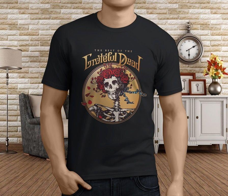 new popular grateful dead american beauty men s black t shirt s