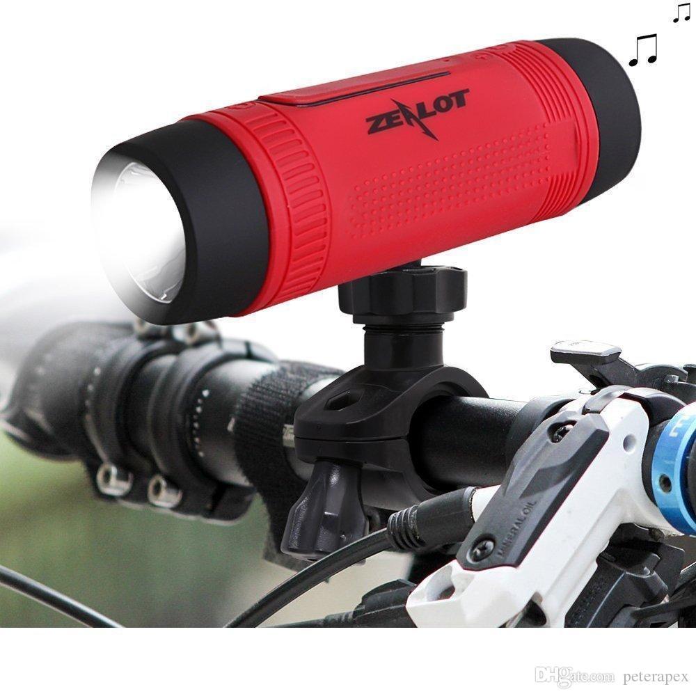 2019 Zealot S1 Altoparlante Bluetooth Bicicletta esterna Subwoofer portatile Bass Altoparlanti wireless Power Bank + LED light + Bike Mount + Moschettone