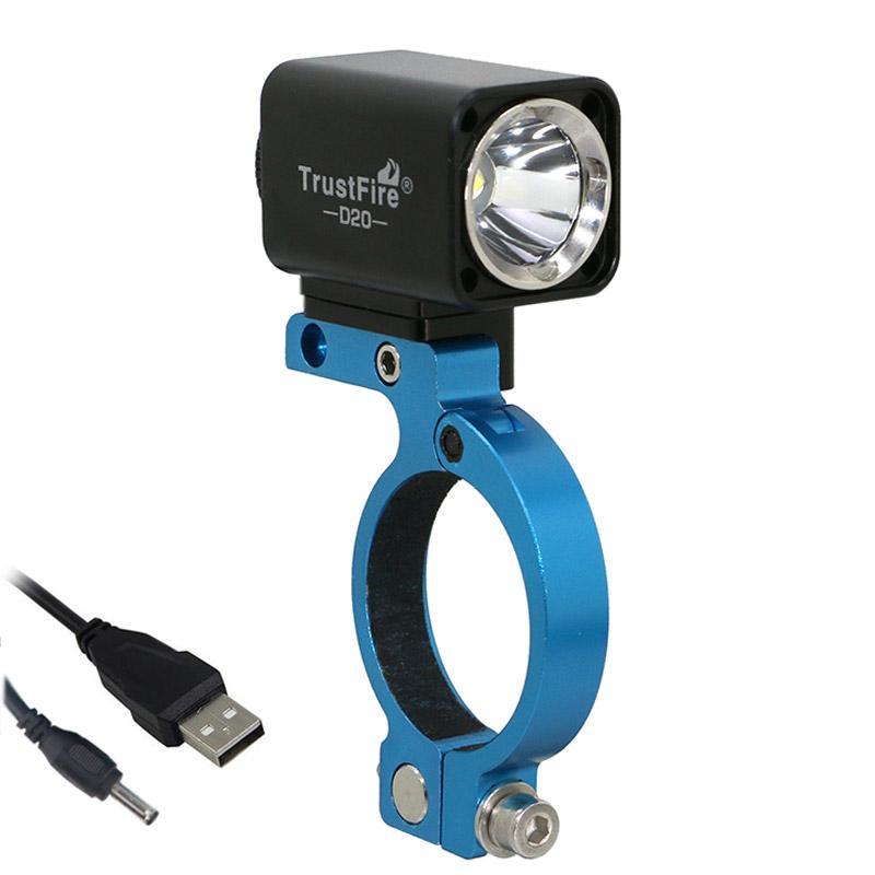 USB Bicycle Light CREE L2 Led Trustfire D20 Cycling Mount Bracket Extend Holder For GARMIN BRYTON Bike Computer GoPro Camera