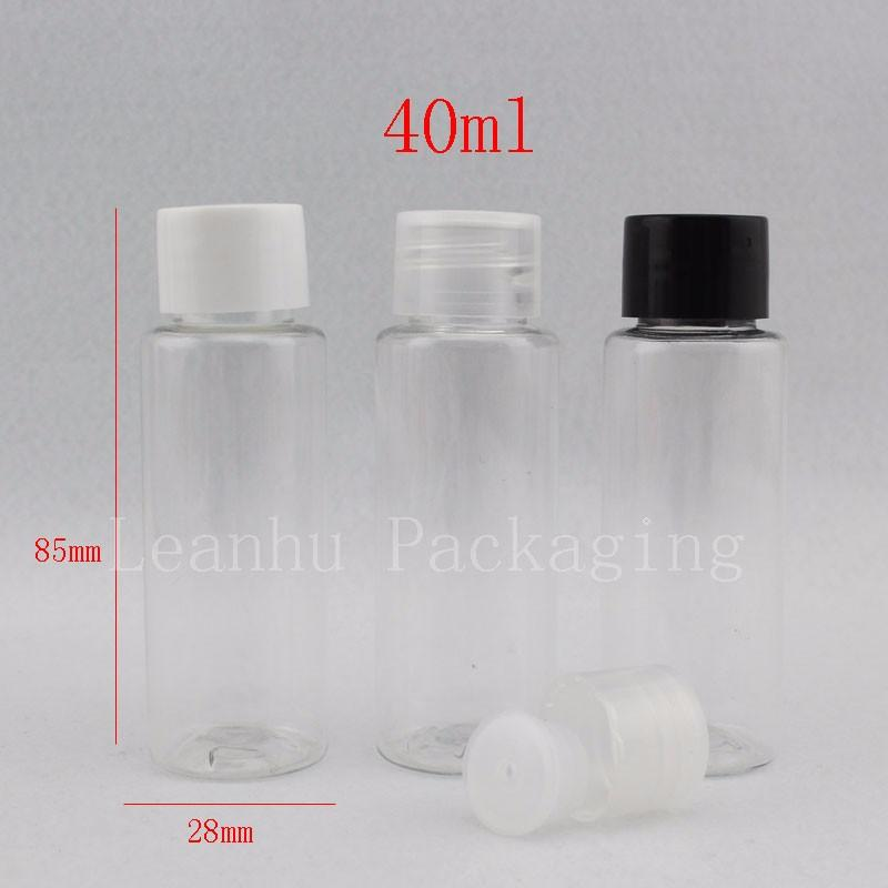 40ml transparent bottle with screw cap