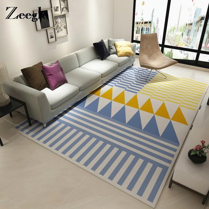 Tapis de style européen Zeegle pour salon anti-dérapant 120X160cm tapis de chambre d'enfant de grande taille