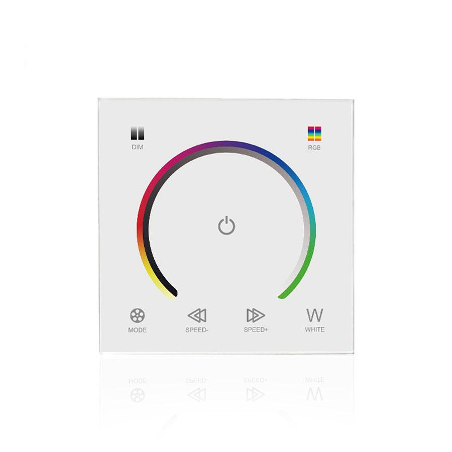 10pcs 86 panel led dimmers Full colour RGB RGBW dimmer touch panel dc12v-24v for 5730 2835 5050 FLEX STRIP Light