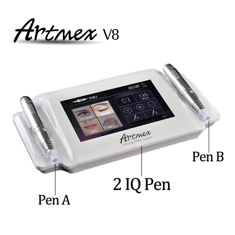high quality permanent make-up tattoo machine eyebrow pen mouth rotating pen Artmex MTS and PMU system V8