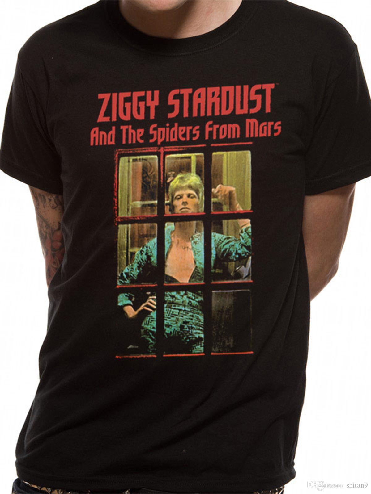 David Bowie Ziggy Stardust White T-shirt Men/'s Tee Size S to XXXL